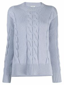 Peserico cable knit sweater - Blue