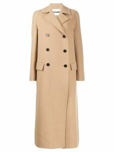 Jil Sander double breasted long coat - Neutrals