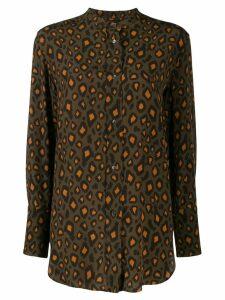 Aspesi leopard print blouse - Green