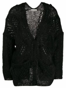 Mes Demoiselles chunky knit cardigan - Black