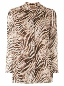 Elie Tahari 'Chava' animal print blouse - Brown