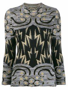 Alberta Ferretti lightning bolt sweater - Grey