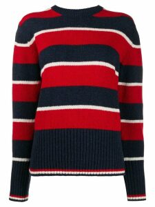 Thom Browne Wide Repp Stripe Relaxed Pullover - Blue
