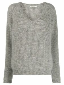 Mes Demoiselles v-neck jumper - Grey