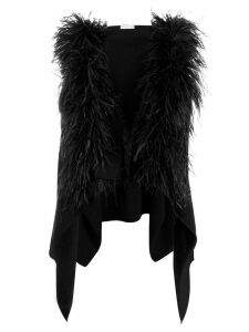 Fabiana Filippi hooded sleeveless cardigan - Black