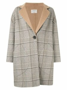 Onefifteen checked coat - Grey