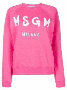 MSGM logo printed sweatshirt - PINK