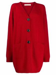 Marni oversized knitted cardigan - Red