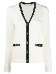 Tory Burch long sleeve cardigan - NEUTRALS