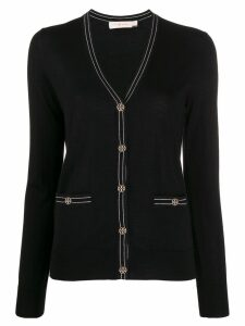 Tory Burch long sleeve cardigan - Black