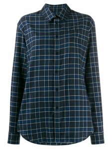 Martine Rose check print long-sleeved shirt - Blue
