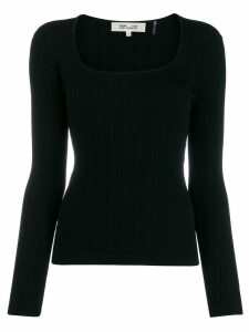 Diane von Furstenberg scoop neck top - Black