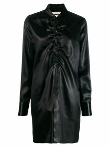 Bottega Veneta ruched neckline long shirt - Black
