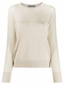 Alberta Ferretti contrast knit jumper - GOLD
