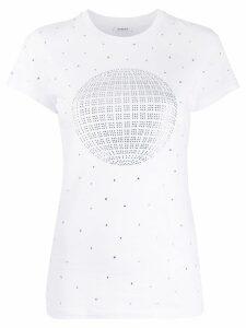 P.A.R.O.S.H. rhinestone logo T-shirt - 801 FANTASIA BIANCO