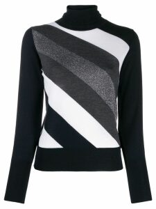 Lorena Antoniazzi diagonal striped jumper - Blue