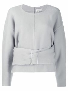 3.1 Phillip Lim belted wool jumper - Grey