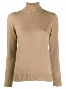 A.P.C. roll neck fine knit jumper - NEUTRALS