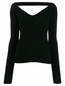 Nº21 sweetheart neck jumper - Black