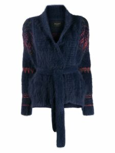 Roberto Collina belted cardigan - Blue
