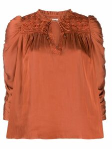 Ulla Johnson ruched puff sleeve blouse - Red