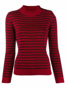 Saint Laurent striped knitted jumper - Red
