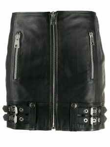 Manokhi zipped mini skirt - Black
