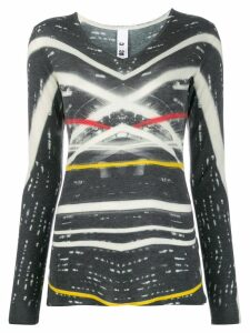 Ultràchic printed fine knit top - Grey