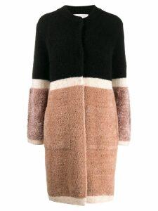 Chiara Bertani colour block cardigan - NEUTRALS