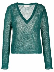 Chiara Bertani chunky knit sweater - Green