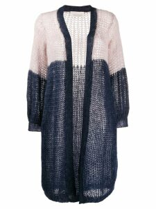 Chiara Bertani colour block cardigan - Blue