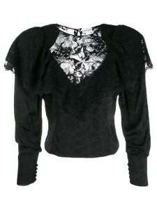 Magda Butrym lace panel blouse - Black