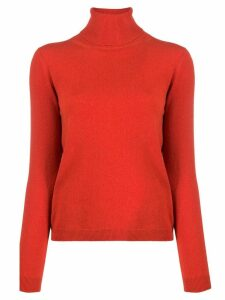 Lamberto Losani roll neck jumper - Red