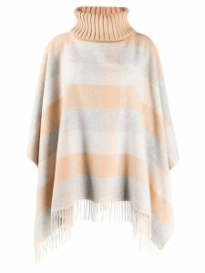 Fabiana Filippi striped poncho - NEUTRALS