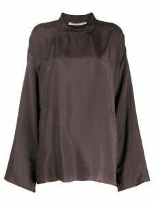 Cherevichkiotvichki straight fit blouse - Brown