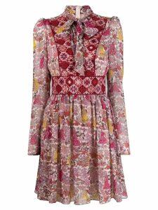 Giamba pussybow floral print dress - PINK