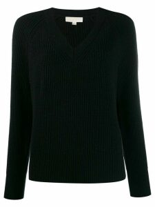 Michael Michael Kors ribbed V-neck jumper - Black