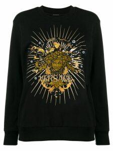 Versace Medusa motif sweatshirt - Black