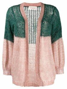 Chiara Bertani colour block cardigan - Green
