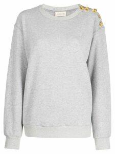 Alexandre Vauthier buttoned sweatshirt - Grey