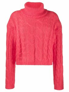Twin-Set cable knit sweater - Pink