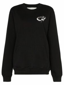 Off-White graffiti logo sweatshirt - Black