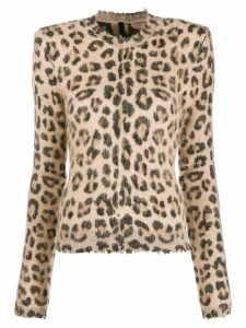 Unravel Project leopard print sweater - NEUTRALS