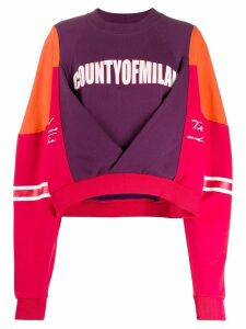 Marcelo Burlon County Of Milan colour block sweatshirt - Red