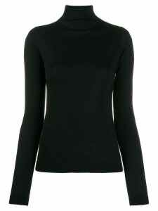 Vince fitted turtleneck jumper - Black