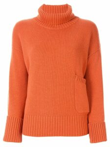 Lamberto Losani roll neck jumper - ORANGE