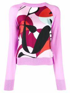 Emilio Pucci print panel jumper - PINK