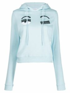 Chiara Ferragni flirting eyes sweatshirt - Blue