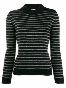 Saint Laurent metallic stripes jumper - Black