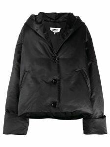 Mm6 Maison Margiela oversized padded coat - Black